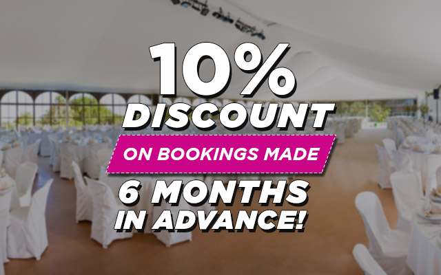 10% discount on bookings made 6 months in advance.